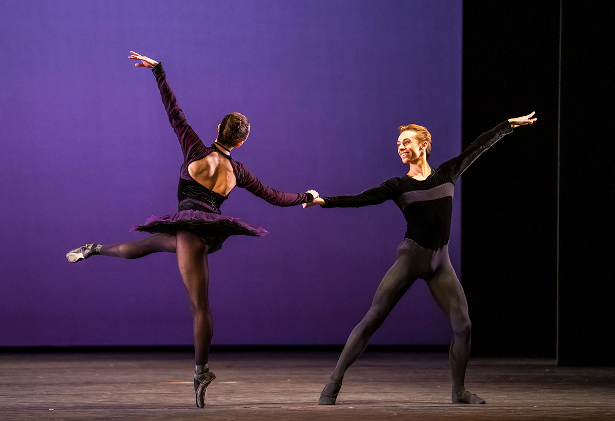 3rd Year students in Ashley Page's Mephisto Waltz.© Tristram Kenton. (Click image for larger version)