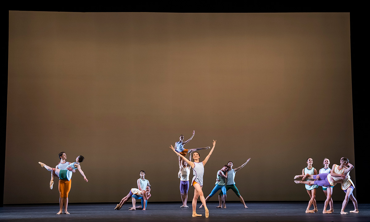 2nd Year students in Valentino Zucchetti's Playfully So.© Tristram Kenton. (Click image for larger version)