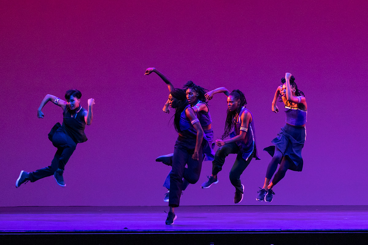 Alvin Ailey American Dance Theater in Rennie Harris' Lazarus.© Erin Baiano. (Click image for larger version)