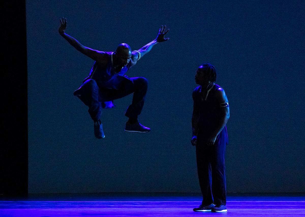 Alvin Ailey American Dance Theater's Jeroboam Bozeman and Renaldo Maurice in Rennie Harris' Lazarus.© Erin Baiano. (Click image for larger version)