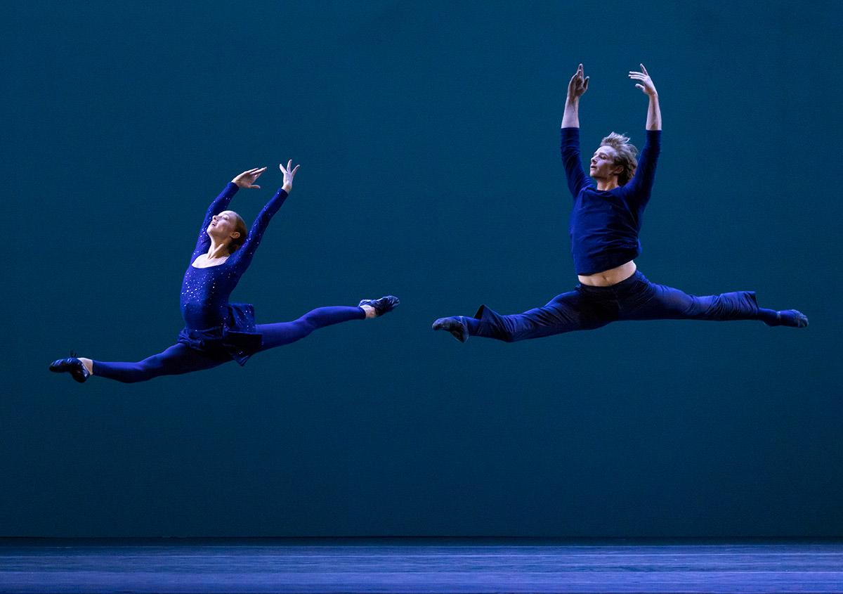 American Ballet Theatre's Catherine Hurlin and Aran Bell in Jessica Lang's Let Me Sing Forevermore, photo by Erin Baiano