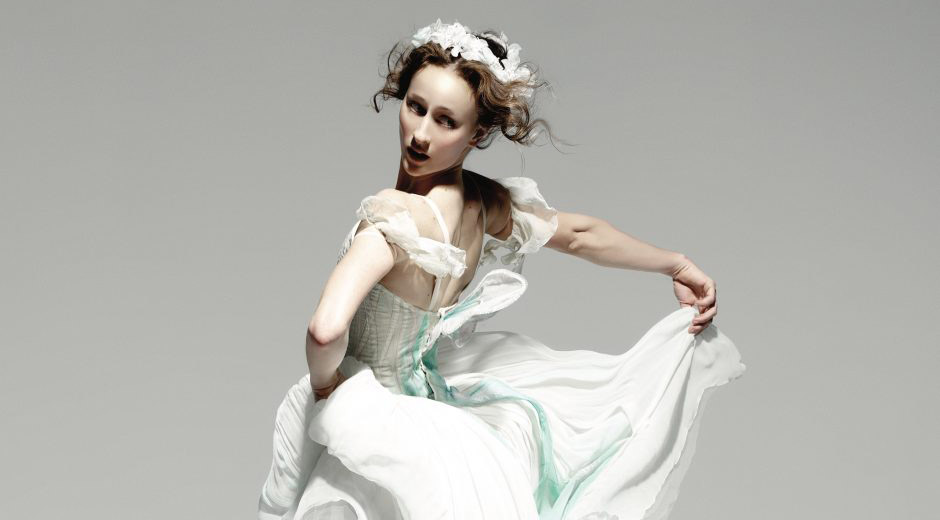 Madeleine Eastoe in solo from <I>La Sylphide</I>.<br />© Justin Smith and courtesy WildBear Entertainment. (Click image for larger version)