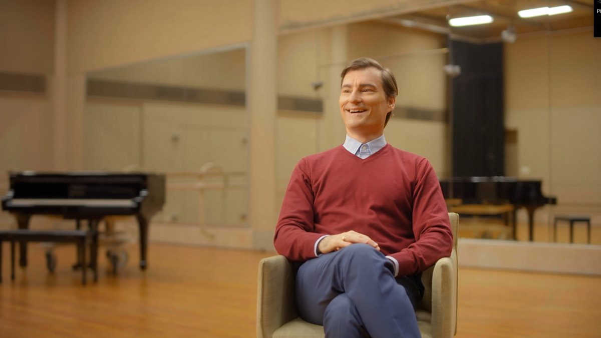 David McAllister interview for the And We Danced documentary.© WildBear Entertainment. (Click image for larger version)
