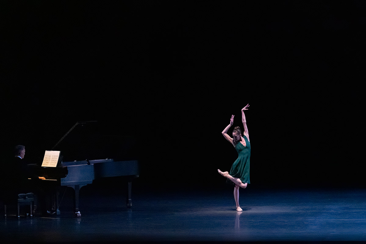 Maria Kowroski, with Craig Baldwin on piano, in <I>Amaria</I>.<br />© Erin Baiano. (Click image for larger version)