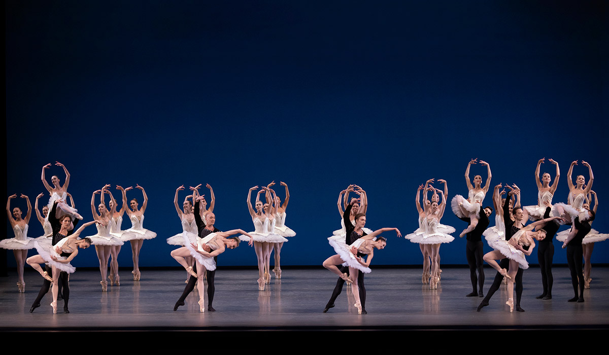 New York City Ballet in <I>Symphony in C</I>.<br />© Erin Baiano. (Click image for larger version)