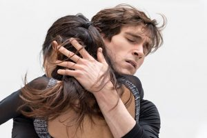 William Bracewell and Fumi Kaneko in studio rehearsals of Romeo and Juliet, September 2021.© Foteini Christofilopoulou, courtesy the Royal Opera House. (Click image for larger version)