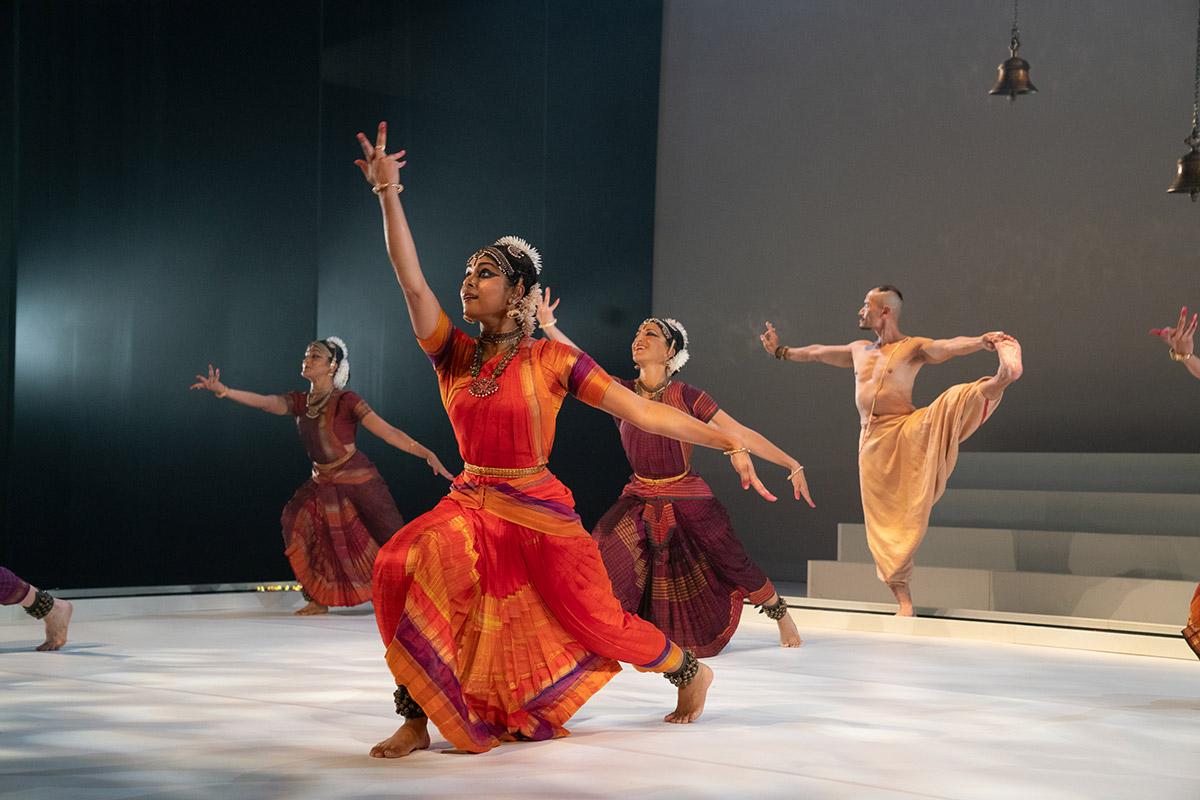 Ragamala Dance Company in Fires of Varanasi.© Steven Pisano. (Click image for larger version)