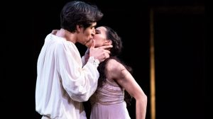 Francesca Hayward and Cesar Corrales in Romeo and Juliet.© Foteini Christofilopoulou, courtesy the Royal Opera House. (Click image for larger version)