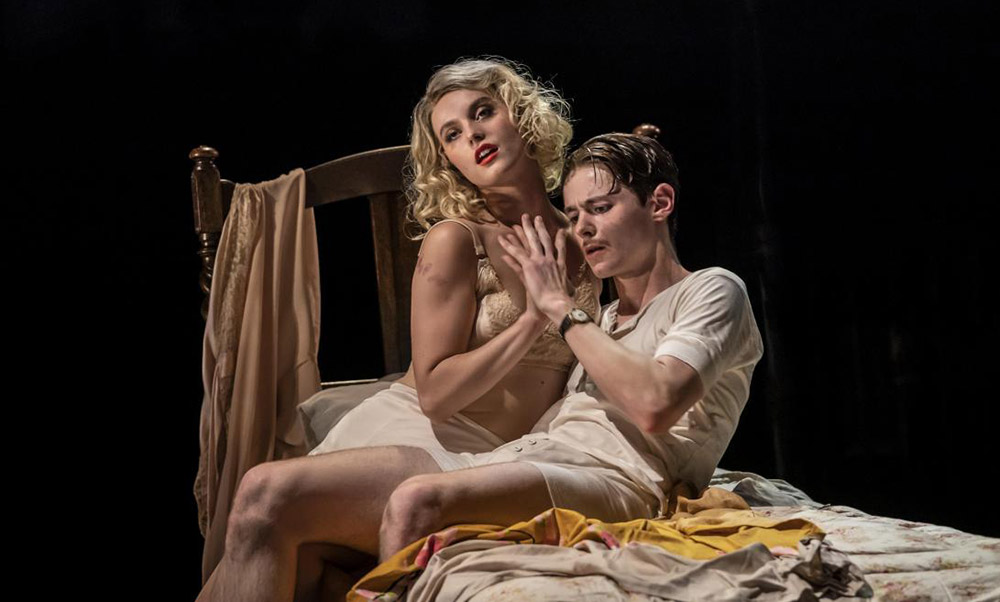 Bryony Wood and Paris Fitzpatrick in The Midnight Bell.© Johan Persson. (Click image for larger version)