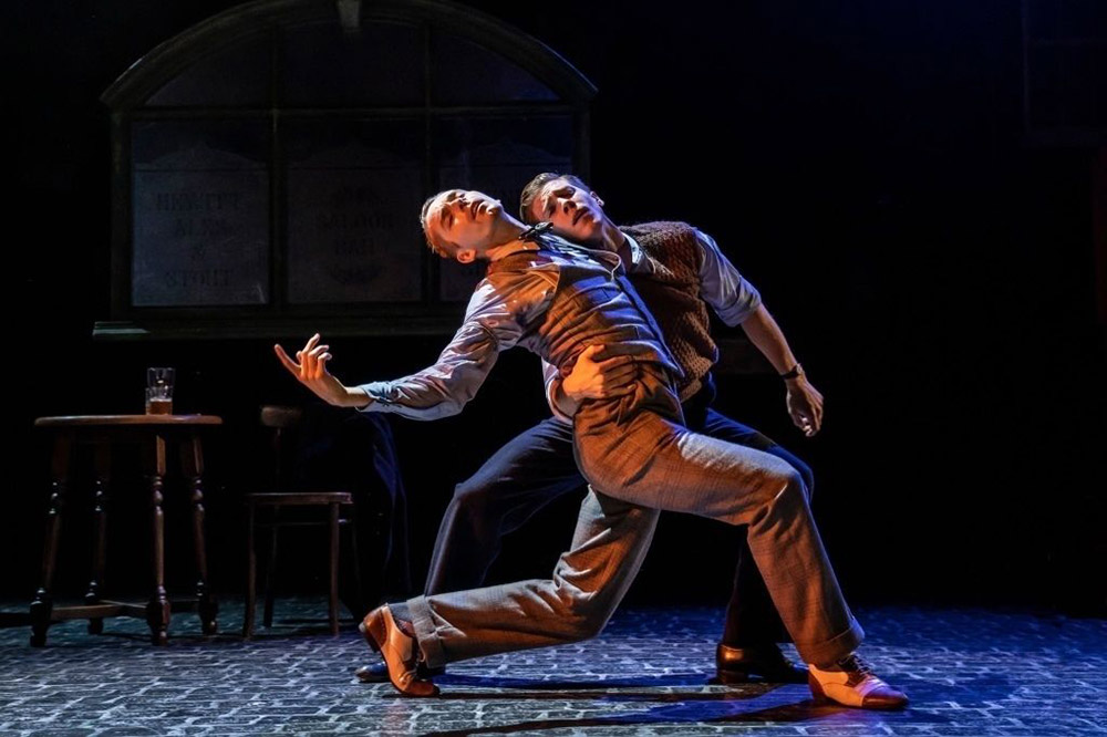 Liam Mower and Andrew Monaghan in The Midnight Bell .© Johan Persson. (Click image for larger version)