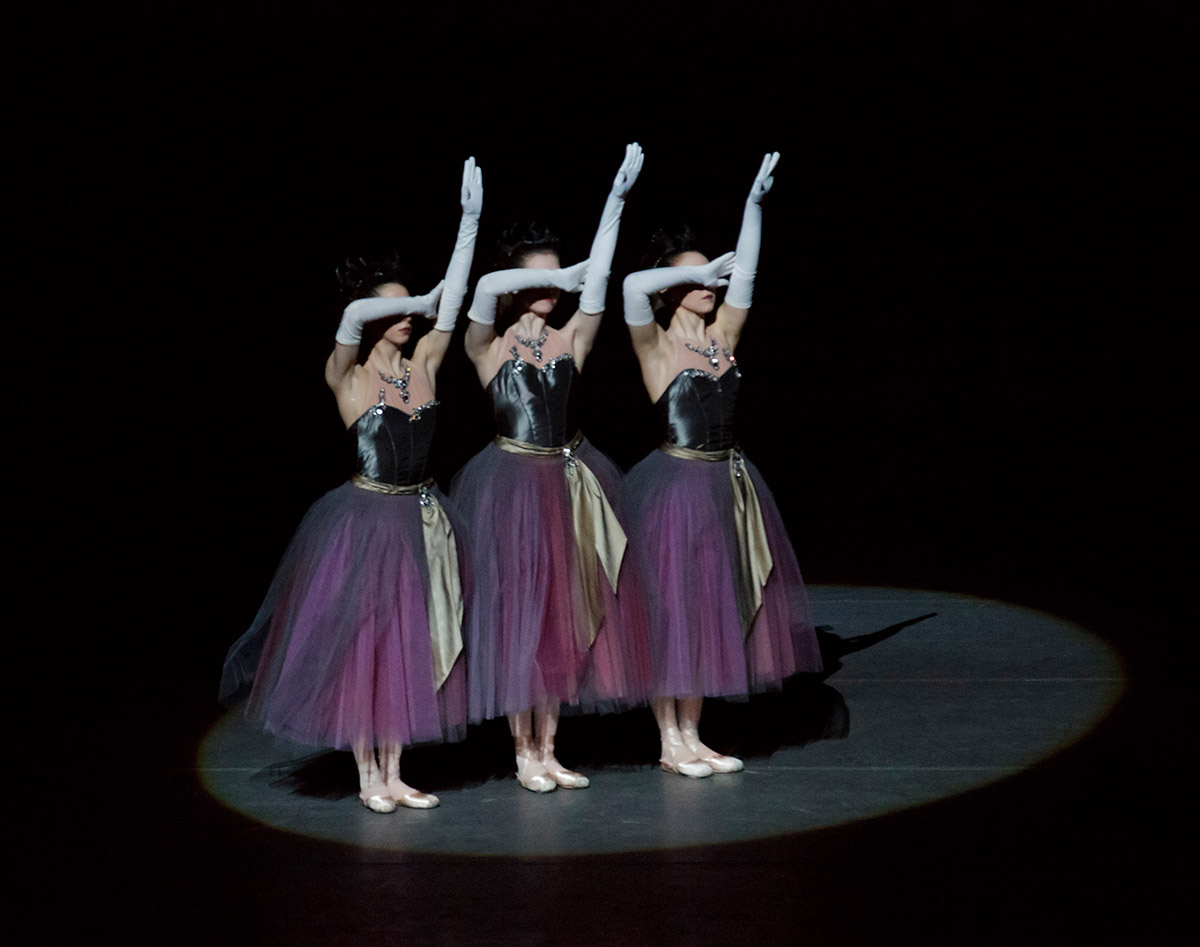 New York City Ballet in La Valse.© Paul Kolnik. (Click image for larger version)